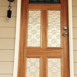 Pressed Tin Panels Original pattern installed in front door inserts