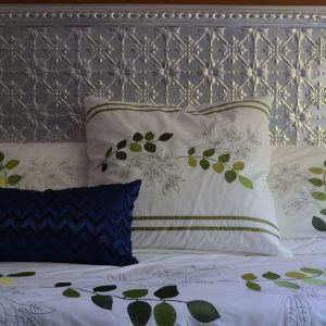 Pressed Tin Panels Bedhead Original pattern with Egg Border