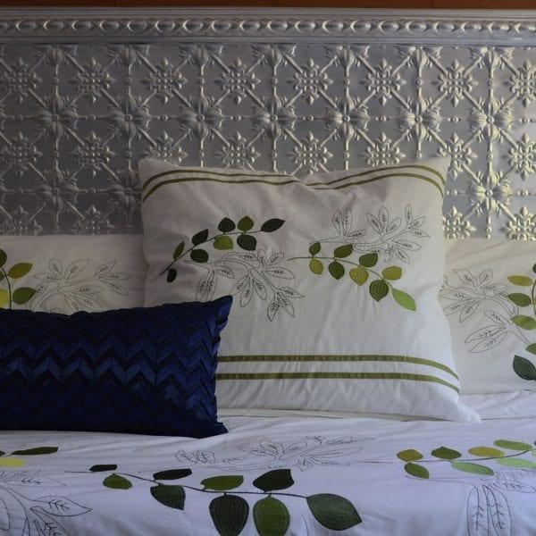 Pressed Tin Panels Bedhead Original pattern with Egg Border