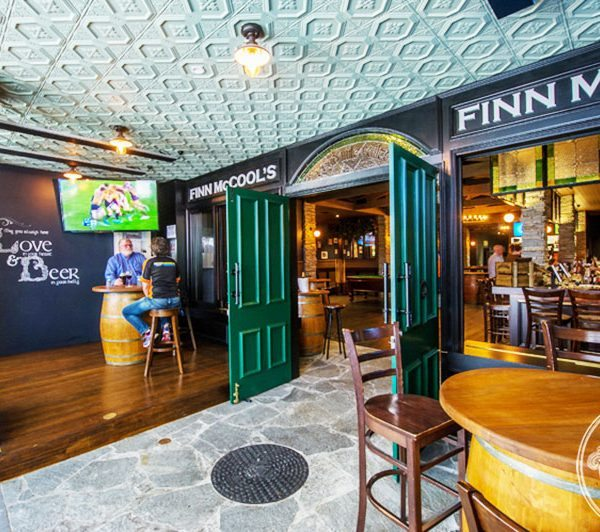 Pressed Tin Panels Harris pattern installed on the ceiling at Finn McCools Irish Pub in Brisbane QLD