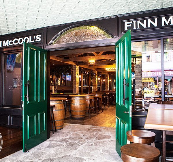 Pressed Tin Panels Harris pattern installed on the ceiling at Finn McCools Irish Pub in Brisbane