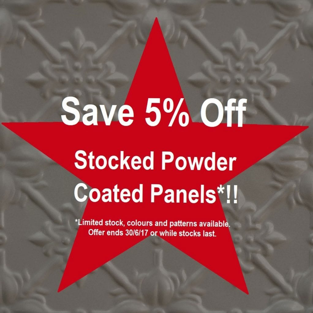 Pressed Tin Panels End Of Financial Year Sale 2017