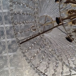 Image example of Pressed Tin Panels Iris pattern installed on ceiling