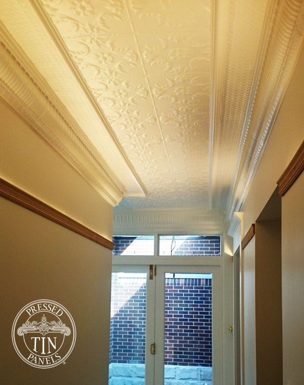 Image example of Pressed Tin Panels Melbourne pattern installed on ceiling