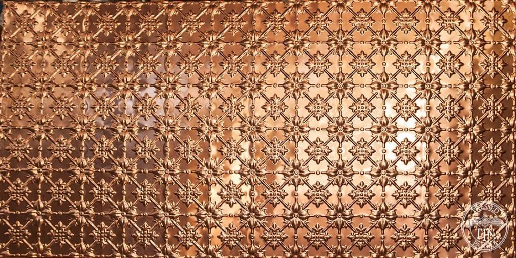 full size panel image example of pressed tin panels Original design pressed in copper