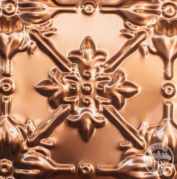Image example of pressed tin panels Original design pressed in copper