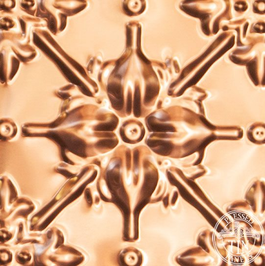 Image example of the pattern repeat of pressed tin panels Original design pressed in copper