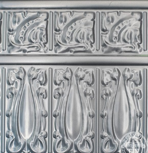 Sectional image example of pressed tin panels wall panel frieze