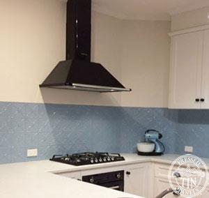 Clover Misty Blue Kitchen Splashback