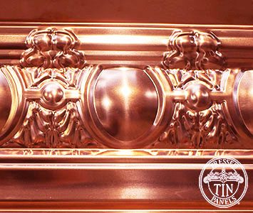 Sectional Image example of Egg & Grape Cornice in Copper
