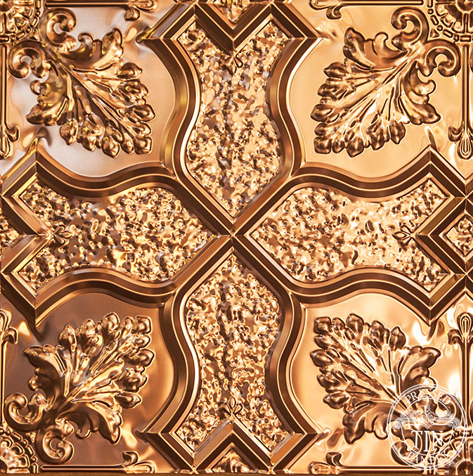 PressedTinPanels_Shield600x600_Copper_PatternRepeat