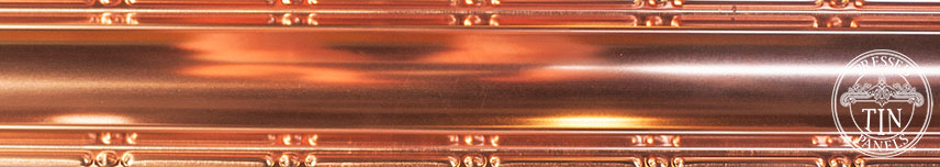 PressedTinPanels_SmallPlainCornice_Copper_Section