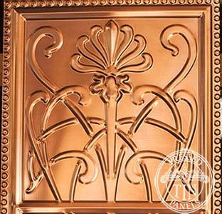 Pressed Tin Panels WildflowerPatternRepeat304x925 Copper Thumbnail