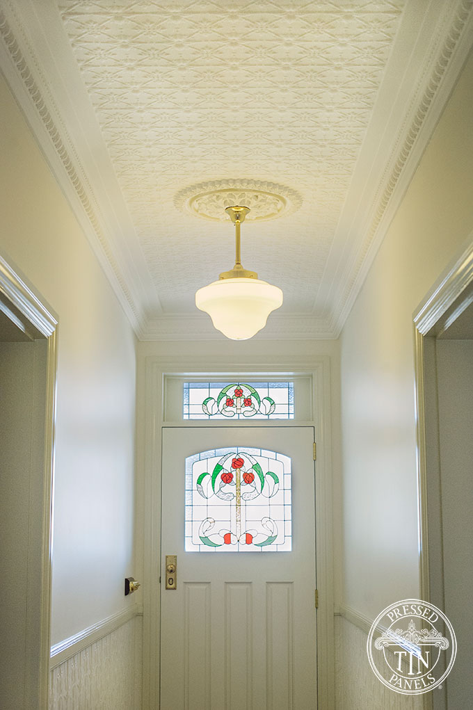 Original Amp Lily Entry Hall Ceiling Amp Dado Feature Wall