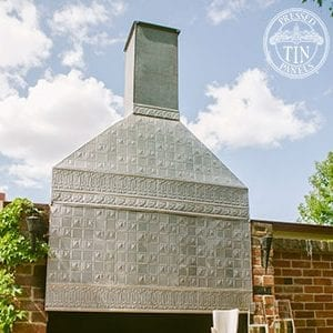 Outdoor chimney feature created using the Wall Panel pattern