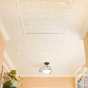 Pressed Tin Panels Snowflakes Egg&DarteCornice RoughCastSmall Hallway Thumbnail