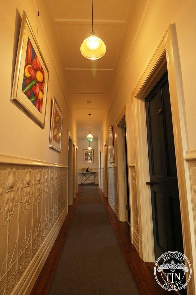 Pressed Tin Panels Art Nouveau Dado Hallway