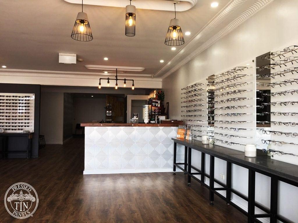 Pressed Tin Panels Illusion Reception Desk Eye Care Plus