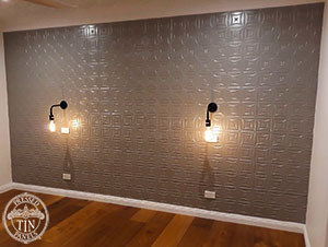 Pressed Tin Panels Carnivale 900x1800 SteelPearl BedroomFeatureWall Thumbnail