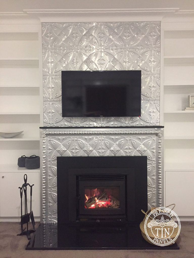 Pressed Tin Panels Carousel Fire Place Feature