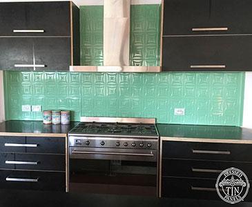 Carnivale Kitchen Splashback Serpentine Green
