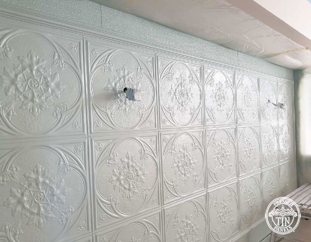 Pressed Tin Panels Iris Feature Wall
