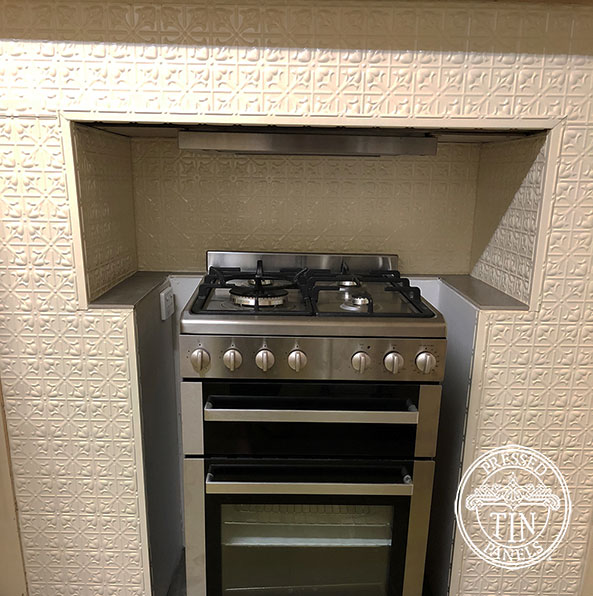 Pressed Tin Panels Lachlan Hearts Kitchen Splashback and Feature Surround