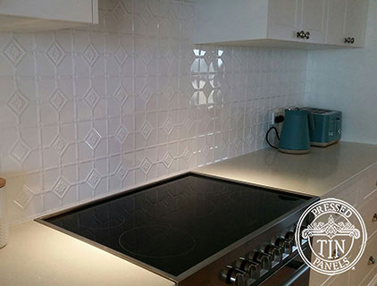 Mudgee Kitchen Splashback Bright White