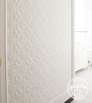 Original Bathroom Feature Wall Bright White