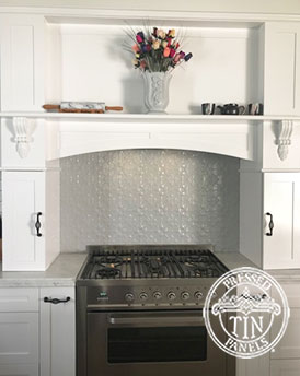 Original Kitchen Splashback Mercury Silver