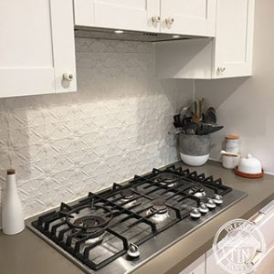 Original Kitchen Splashback Shoji White