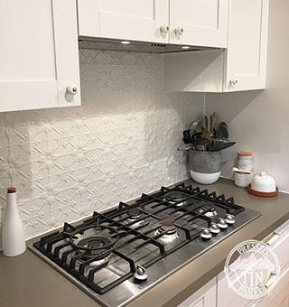 Original Kitchen Splashback Shoji White