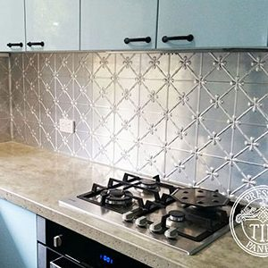 Pressed Tin Panels Clover Kitchen Splashback Thumbnail