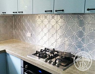 Pressed Tin Panels Clover Kitchen Splashback Thumbnail