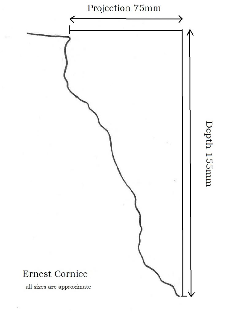 Size details of the Ernest Cornice