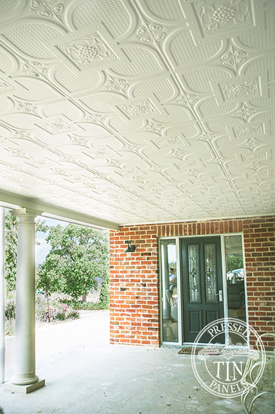 Pressed Tin Panels Alexandria Verandah Ceiling and Entry Way