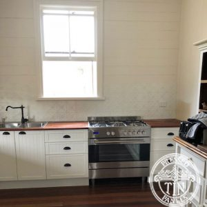 Pressed Tin Panels Clover Kitchen Splashback Cream