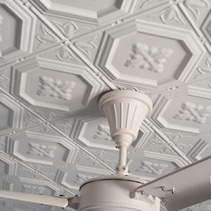 Pressed Tin Panels Harris Ceiling White