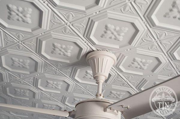 Pressed Tin Panels Harris Ceiling White