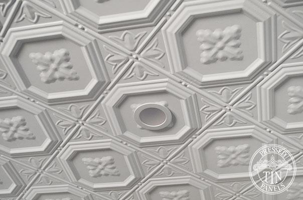 Pressed Tin Panels Harris Ceiling White Light Fitting