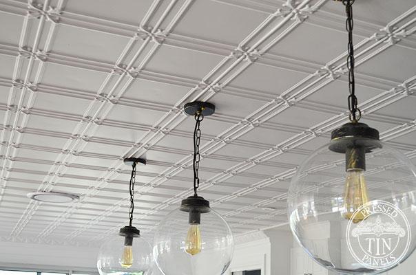 Pressed Tin Panels Maddington Ceiling White