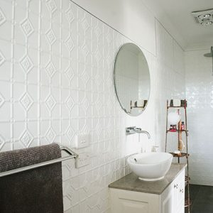 Pressed Tin Panels Mudgee Bathroom Classic White
