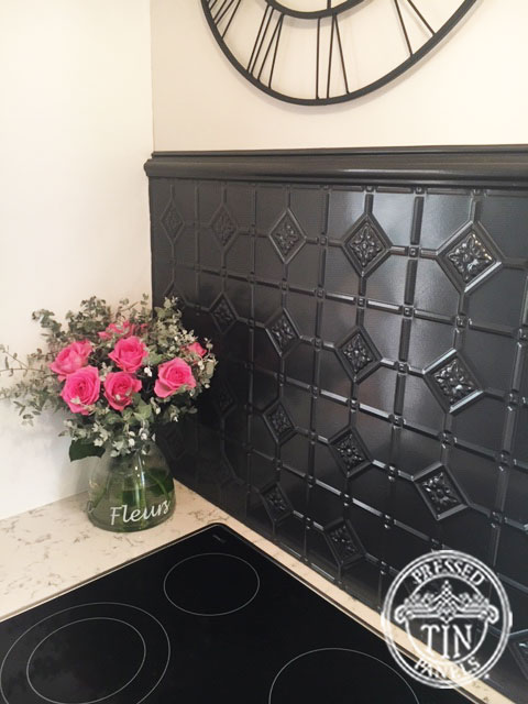 Pressed Tin Panels Mudgee Kitchen Splashback Steel Pearl