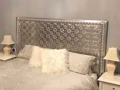 Pressed Tin Panels Bedhead DIY Kit Original EggBorder