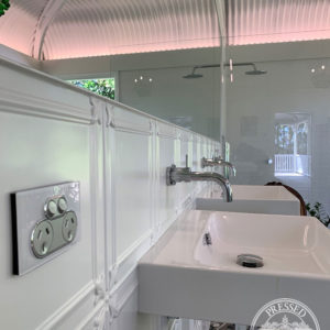 Pressed Tin Panels Maddington Bathroom White WaddiLove