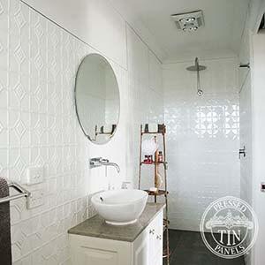 Pressed Metal Bathroom Splashbacks