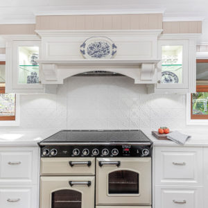 Pressed Tin Panels Clover KitchenSplashback BrightWhite DanaKitchens