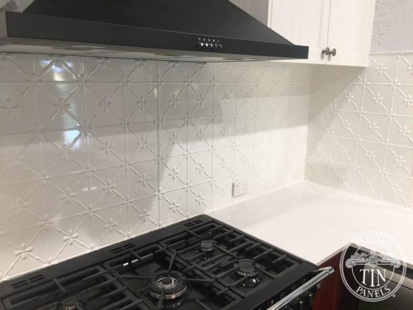 Pressed Tin Panels Clover KitchenSplashback Ceilings