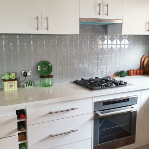 Pressed Tin Panels Mudgee KitchenSplashback StoneGrey KayA'Court
