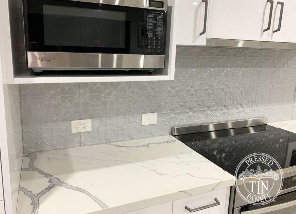 Pressed Tin Panels Original KitchenSplashback MercurySilver MyCabinetmaker